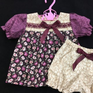 Brown & Purple Floral Dress - 1 Available