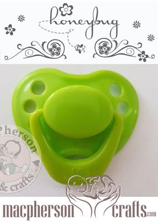 "HoneyBug Sweetheart Newborn Pacifier for 18/"" Dolls-Totally Lime"