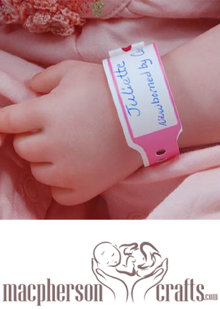 5pcs Red Reborn Baby Hospital ID Wristbands Bracelets Accessories Baby Shower