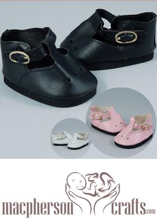 Mary Jane Preemie Shoes ~ WHITE