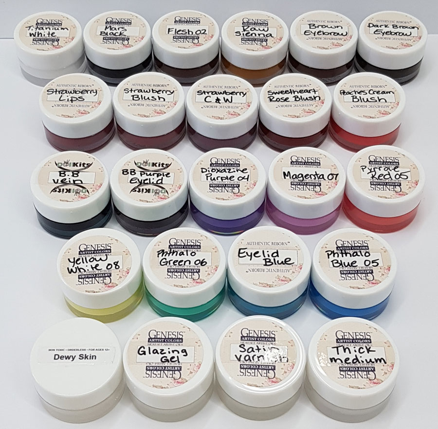 DARK RED Genesis Heat Set Paints for Reborn Doll Making